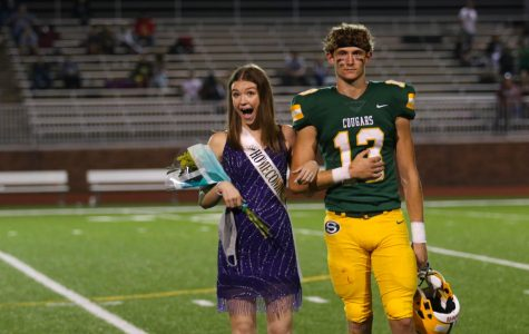 Emma Smith was announced the 2020 Homecoming queen at the home football game on Sept. 18. Her escort was senior Colin Schreiber.