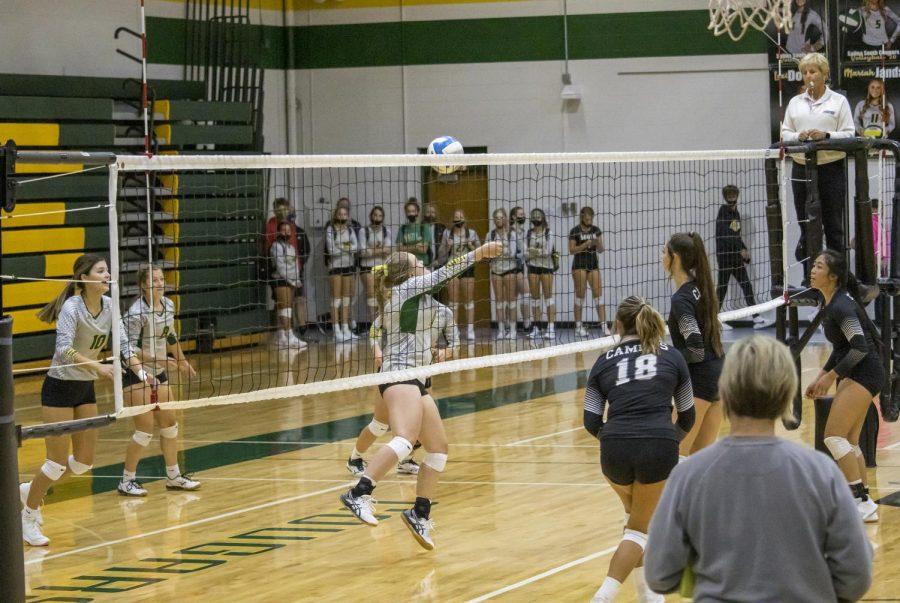 Senior girls plays against Haysville-campus and Hutchinson